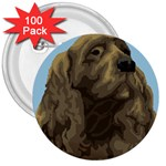 spaniel 3  Button (100 pack)