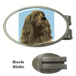 spaniel Money Clip (Oval)