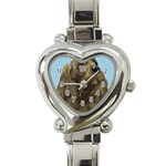 spaniel Heart Italian Charm Watch