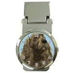 spaniel Money Clip Watch