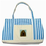 spaniel Striped Blue Tote Bag