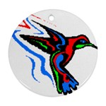 hummingbird Ornament (Round)