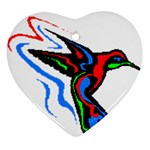 hummingbird Ornament (Heart)