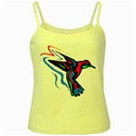 hummingbird Yellow Spaghetti Tank