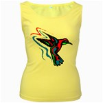 hummingbird Women s Yellow Tank Top