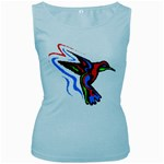 hummingbird Women s Baby Blue Tank Top