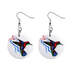 hummingbird 1  Button Earrings