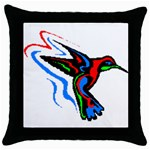 hummingbird Throw Pillow Case (Black)