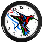hummingbird Wall Clock (Black)