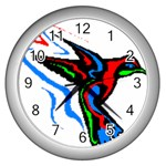 hummingbird Wall Clock (Silver)