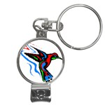 hummingbird Nail Clippers Key Chain