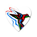 hummingbird Magnet (Heart)