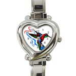 hummingbird Heart Italian Charm Watch