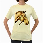 Horse Women s Yellow T-Shirt