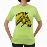 Horse Women s Green T-Shirt