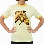 Horse Women s Fitted Ringer T-Shirt