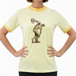 sculpture Women s Fitted Ringer T-Shirt