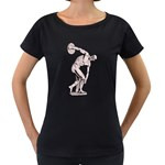 sculpture Maternity Black T-Shirt
