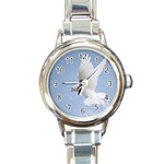 Dove Round Italian Charm Watch