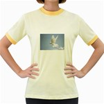 Dove Women s Fitted Ringer T-Shirt