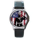 flag Round Metal Watch