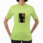 flag Women s Green T-Shirt