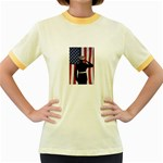flag Women s Fitted Ringer T-Shirt