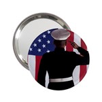 flag 2.25  Handbag Mirror