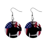 flag 1  Button Earrings