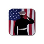flag Rubber Square Coaster (4 pack)
