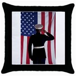 flag Throw Pillow Case (Black)