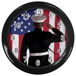 flag Wall Clock (Black)