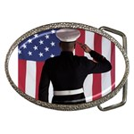 flag Belt Buckle