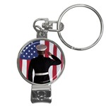 flag Nail Clippers Key Chain