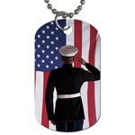 flag Dog Tag (One Side)