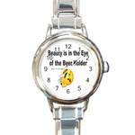 beer beauty large Round Italian Charm Watch