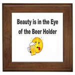 beer beauty large Framed Tile