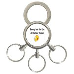 beer beauty large 3-Ring Key Chain