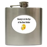 beer beauty large Hip Flask (6 oz)
