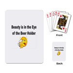 beer beauty large Playing Cards Single Design