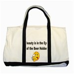 beer beauty large Two Tone Tote Bag