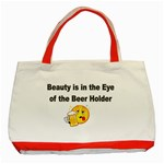 beer beauty large Classic Tote Bag (Red)
