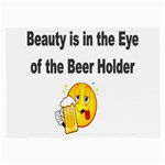beer beauty large Glasses Cloth (Large, Two Sides)