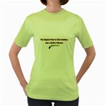 gun Women s Green T-Shirt