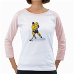 hockey player Girly Raglan