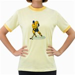 hockey player Women s Fitted Ringer T-Shirt