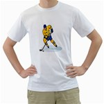 hockey player White T-Shirt