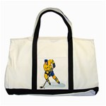 hockey player Two Tone Tote Bag