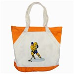 hockey player Accent Tote Bag