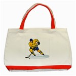 hockey player Classic Tote Bag (Red)